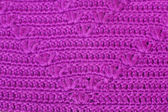 Openwork knitting of purple yarn — Foto de Stock