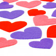 Stock Photo: Many colored heart shapes