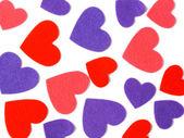 Many colored heart shapes — Stock Photo