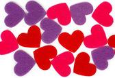 Many colored heart shapes — Foto de Stock