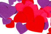 Many colored heart shapes — Stock Photo
