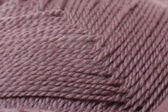 Skein of yarn mocha color closeup — Stock Photo