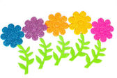 Carta con fiori colorati come applique — Foto Stock