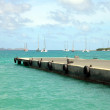 St Barts harbour — Stock Photo