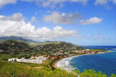 St Kitts south coast — 图库照片
