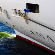 Maintaining Oceana cruise ship — Stok fotoğraf