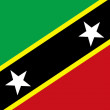 Stock Photo: Saint Kitts and Nevis Flag
