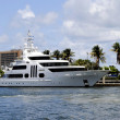 Galant lady yacht — Stock Photo