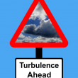 Stock Photo: Warning Turbulence ahead sign