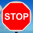 Manually operated temporary stop sign — Stock Photo #23963721