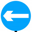 Turn left traffic sign — Stock Photo
