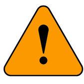 Amber warning sign — Stock Photo