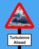 Warning Turbulence ahead sign — Stock Photo