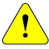 Yellow warning sign — Stock Photo