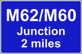 Juction ahead is with another motorway sign — Stock Photo