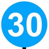 最低限速交通标志 — 图库照片