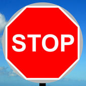 Manually operated temporary stop sign — Stock Photo