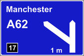 Motorway 1 mile advance sign — Stock Photo