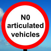Order sign No articulated vehicles — Stock Photo