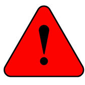 Red warning sign — Stock Photo