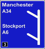 Two junctions in quick succession motorway sign — Stock Photo