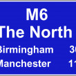 Route confirmation motorway sign — Foto Stock