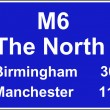 Route confirmation motorway sign — Stockfoto