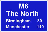 Route confirmation motorway sign — Stock Photo