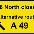 Stock Photo: Temporary diversion route sign