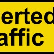 Stock Photo: Diverted traffic sign