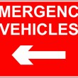 Emergency vehicles sign — Stock Photo