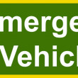 Stock Photo: Emergency vehicles sign