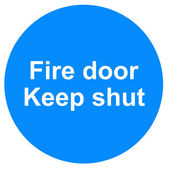Fire door sign — Stock Photo