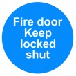Stock Photo: Fire door sign