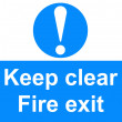 Fire exit sign — Stock Photo #24323499
