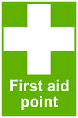 First aid point sign — Stock Photo