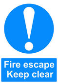 Fire escape sign — Stock Photo