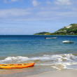Halcyon Beach in St Lucia - Stock Photo