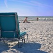 Deck chair in Florida — Stock Photo