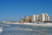 Hotels on Clearwater Beach in Florida — Stock Photo
