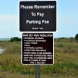 Stock Photo: Sand Key Park Regulation sign