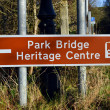 Stock Photo: Park Bridge Heritage Centre sign