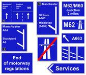 Motorway regulations signs — Stock Photo