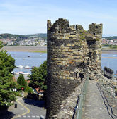 Conwy's town wall — Stock Photo