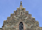 Crow-stepped gable in Conwy — Stock Photo