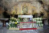 Ermita de la Virgen de la Pena altar Mijas — Stock Photo