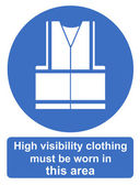 High visibility clothing must be worn in this area — Stock Photo