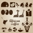 African coffee design set — Stock Vector