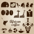African coffee design set - Stockvektor