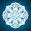Stock Vector: Beautiful detailed snowflake